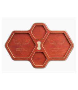 Audacious Concept HexTray Orange Plywood EDC Organizer Tray
