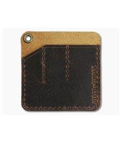 Hitch & Timber Pocket Pack Triple Slip EDC Organizer Brown Nut Leather