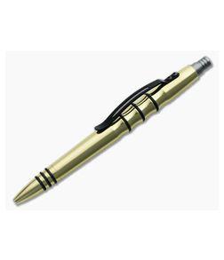 Tuff-Writer Precision Press Polished Brass Pen