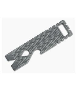 Qerim 37 V2 Worker Titanium Pry Tool Stonewashed Wave Engraved 008