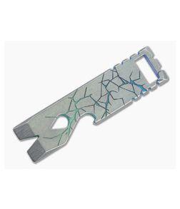 Qerim 37 V2 Worker Titanium Pry Tool San Andreas Gradient Anodized 012