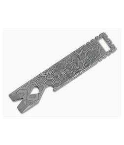 Qerim 37 V4 Worker Titanium Pry Tool Stonewashed Reptilian Engraved 019