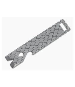 Qerim 37 V4 Worker Titanium Pry Tool Stonewashed Dragon Scale Engraved 020