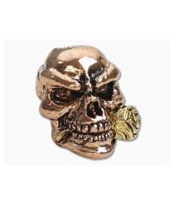 Schmuckatelli Rose Skull Bead 2-Tone Rose Gold & Gold Pewter