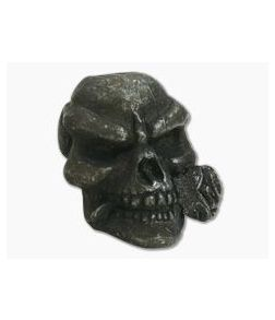 Schmuckatelli Rose Skull Bead Black Oxidized Pewter
