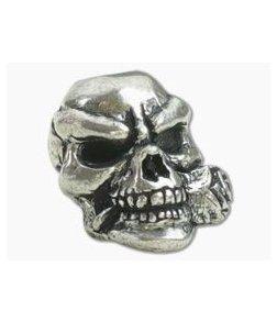 Schmuckatelli Rose Skull Bead Pewter