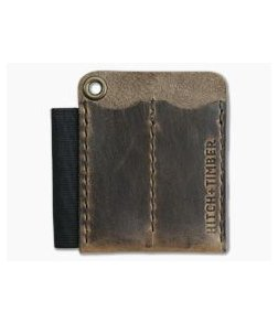 Hitch & Timber Runt 2.0 Card Holder Crazy Horse Leather EDC Slip & Pen Holder