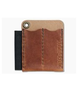 Hitch & Timber Runt 2.0 Card Holder English Tan Leather EDC Slip & Pen Holder