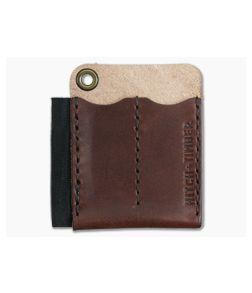 Hitch & Timber Runt 2.0 Card Holder Chestnut Leather EDC Slip & Pen Holder