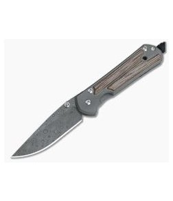 Chris Reeve Small Sebenza 21 Inlay Natural Canvas Micarta Damascus Raindrop Drop Point 1272-001
