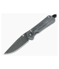 Chris Reeve Small Sebenza 31 Black Canvas Micarta Inlay Ladder Damascus 001
