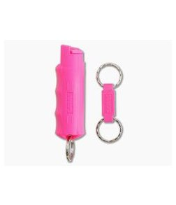 Sabre Red Pink Campus Safety Pepper Gel w/ QR Key Ring 15301