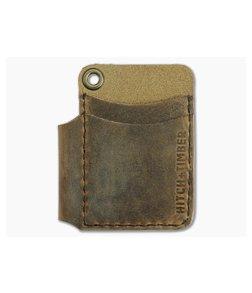 Hitch & Timber Scrawllet EDC Utility Wallet Pen Holder Crazy Horse Leather