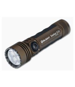 Olight Seeker 3 Pro Desert Tan LTD Magnetic Rechargeable 4200 Lumen LED Flashlight