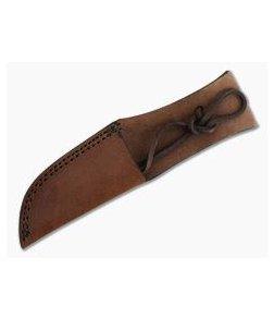 "Leather Fixed Blade Knife Sheath 8"" Tan"