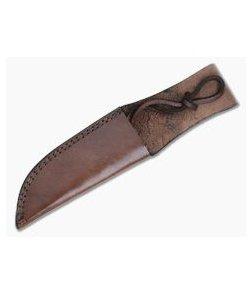 "Leather Fixed Blade Knife Sheath 5.25"" Tan"