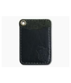 Hitch & Timber Short Fold Card Wallet Black Leather