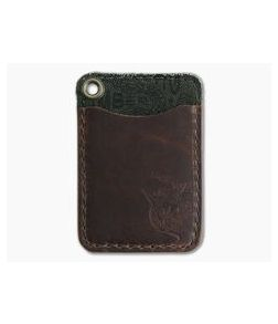 Hitch & Timber Short Fold Card Wallet Brown Nut Leather