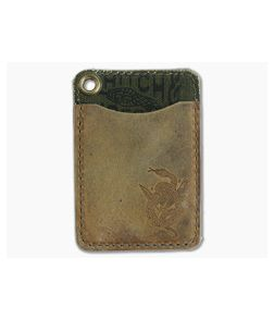 Hitch & Timber Short Fold Card Wallet Crazy Horse Leather