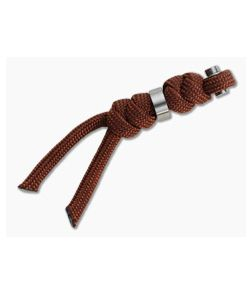 Chris Reeve Small Inkosi Lanyard Rust with Silver Bead