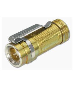 Olight S Mini Baton CU Raw Brass LED Flashlight 550 Lumens
