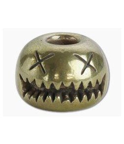 Audacious Concept Smiley Bead Medium Brass Lanyard Bead SMM-BRS-STW