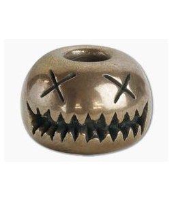 Audacious Concept Smiley Bead Medium Bronze Lanyard Bead SMM-BRZ-STW