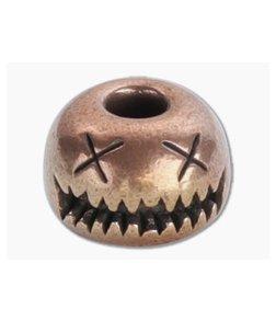 Audacious Concept Smiley Bead Medium Copper Lanyard Bead SMM-CPR-STW
