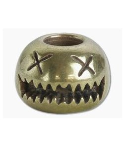 Audacious Concept Smiley Bead Small Brass Lanyard Bead SMS-BRS-STW