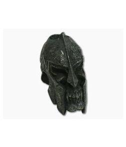 Schmuckatelli Spartan Skull Bead Black Oxidized Pewter