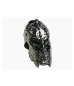 Schmuckatelli Spartan Skull Bead Hematite Plated Pewter