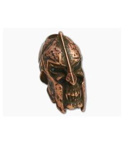 Schmuckatelli Spartan Skull Bead Roman Copper Ox Pewter