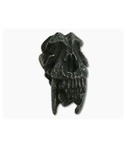 Schmuckatelli Sabretooth Skull Bead Black Oxidized Pewter