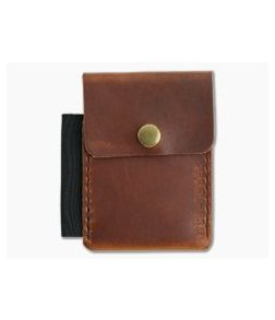 Hitch & Timber Surveyor English Tan Leather Brass Snap Wallet
