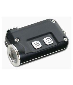 NiteCore TINI Black Aluminum 380 Lumen Micro-USB Rechargeable Keychain Flashlight