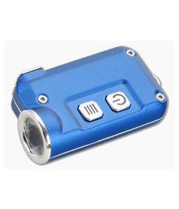 NiteCore TINI Blue Aluminum 380 Lumen Micro-USB Rechargeable Keychain Flashlight