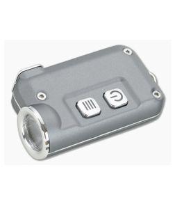 NiteCore TINI Grey Aluminum 380 Lumen Micro-USB Rechargeable Keychain Flashlight