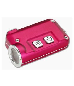 NiteCore TINI Red Aluminum 380 Lumen Micro-USB Rechargeable Keychain Flashlight