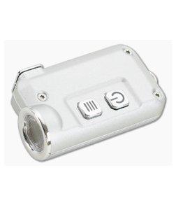 NiteCore TINI Silver Aluminum 380 Lumen Micro-USB Rechargeable Keychain Flashlight