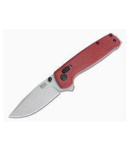 SOG Terminus XR Stonewashed D2 Crimson G10 XR Lock Flipper TM1023-BX