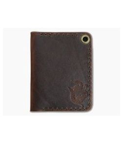 Hitch & Timber Trucker's Hitch Brown Nut Leather Fold-Over EDC Utility Wallet