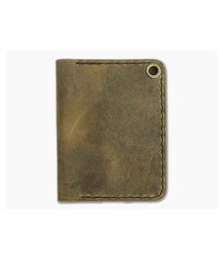 Hitch & Timber Trucker's Hitch Crazy Horse Leather Fold-Over EDC Utility Wallet
