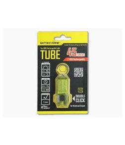 NiteCore Tube USB Rechargebale Keychain Light Green
