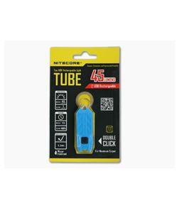 NiteCore Tube USB Rechargebale Keychain Light Azure Blue
