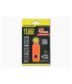 NiteCore Tube USB Rechargebale Keychain Light Jacinth Orange