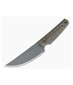 RMJ Tactical Unmei Kwaiken Nitro-V Hyena Brown G10 Everyday Carry Fixed Blade