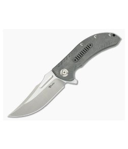Reate Knives Valhalla Hollowed Titanium Frame Lock Flipper Satin RWL34
