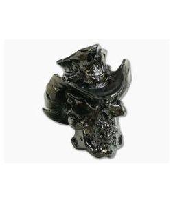 Schmuckatelli Vinnie Garoon Cowboy Skull Bead Hematite Pewter
