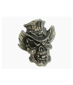 Schmuckatelli Vinnie Garoon Cowboy Skull Bead Pewter