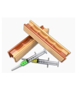 Wicked Edge 5/3.5 Micron Diamond Paste Syringes and Leather Strops Pack